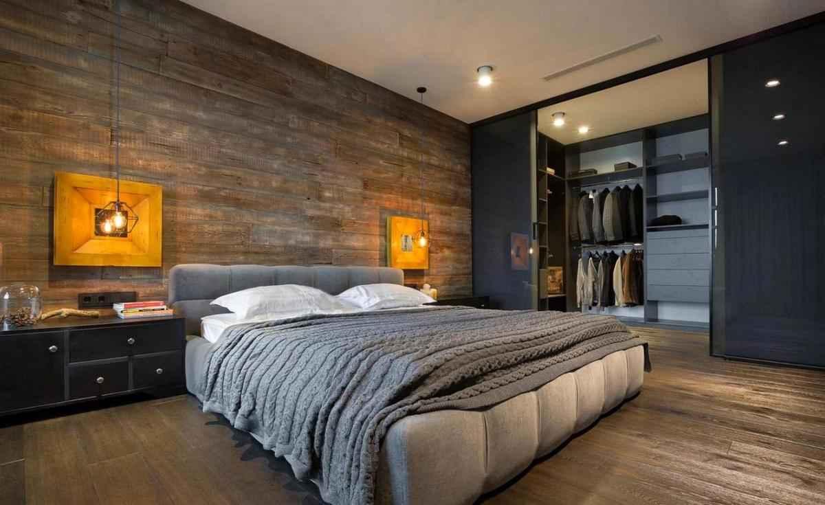 Паркетная доска Вудхарт из ясеня в спальне