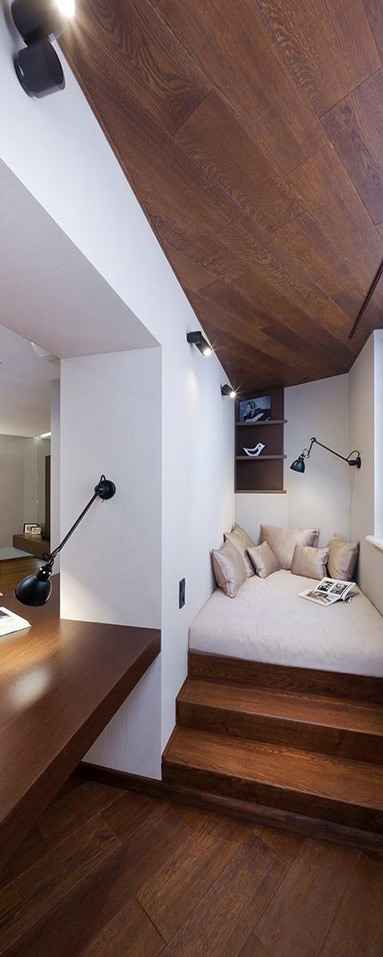 Паркетная доска, зал и балкон