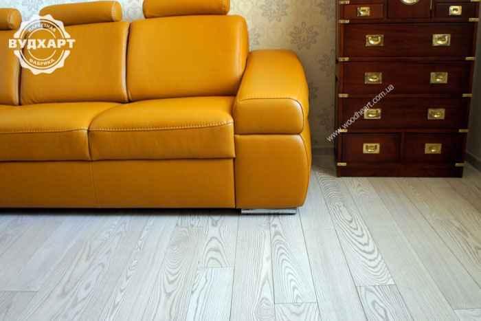 Паркетная доска ясень покрытие, масло-воск, цвет №0133