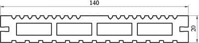 Характеристики террасной доски «Lite»