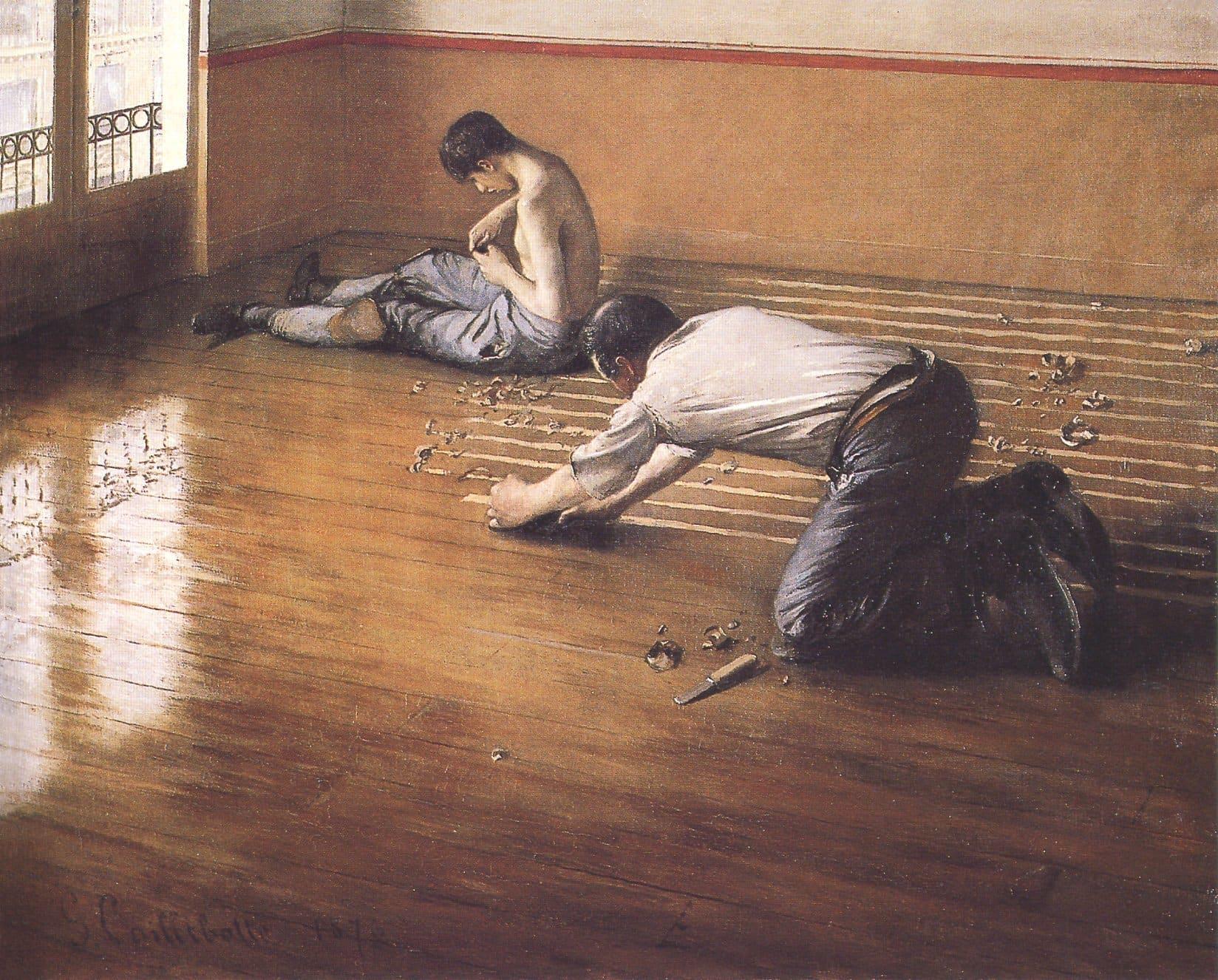 Картина Гюстава Кайботта - Паркетчики 1875 год