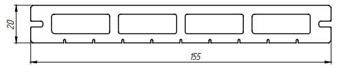 Характеристики террасной доски Lite Premium 3D
