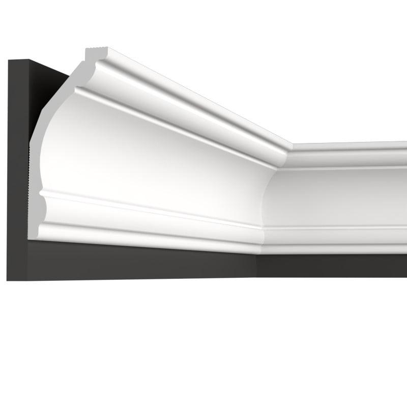 Карниз AB12050 — дюрополимерный потолочный карниз, коллекции Decolux, белого цвета